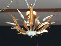 italian wrought iron wheat chandelier from masca 1960s 1