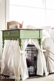 diy dog crate cover ten minute farmhouse style ikea curtain for small spaces