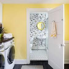 er yellow laundry room walls design