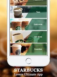 starbucks hot drinks menu. Unique Drinks Screenshot 1 For Secret Menu Starbucks Free Coffee Frappuccino  Macchiato  For Hot Drinks D