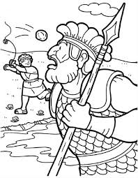 Small Picture David and goliath coloring pages throwing the stones ColoringStar