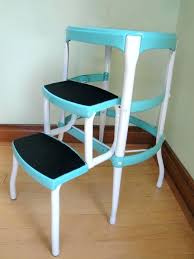 cosco step stools antique stool vintage folding chair blue parts rubber treads