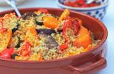 bulgur wheat and roasted vegetable salad