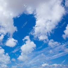 Sky With Different Types Of Clouds Square Stock Photo Picture And