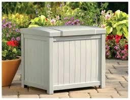 patio storage boxes bench waterproof outdoor garden cushion box rattan