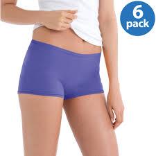 Hanes Women s Cotton Soft Waistband Boyshort Panties 6 Pack.