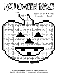Small Picture Halloween Coloring Pages And Puzzles Coloring Pages
