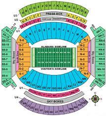 Lsu Stadium Seating Chart Visitor Section Bryant Denny Stadium Visitor Seating Chart 2019