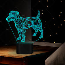 Light Box Terrier For Sale Us 16 59 19 Off Creative Jack Russell Terrier Dog Illusion Night Light For Room Decor 7 Colors Usb Cable Baby Feeding In Night Lights From Lights