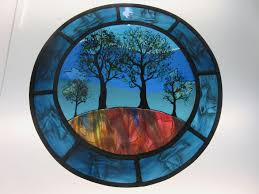 fused painted stained glass panels