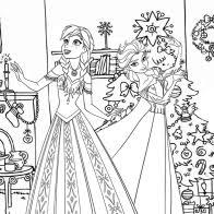 frozen christmas coloring pictures. Exellent Frozen Frozen Christmas House With Coloring Pictures C