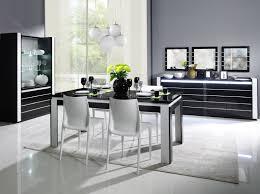Esszimmer Komplett Set B Livadia 6 Teilig Farbe Weiß Hochglanz Schwarz Hochglanz