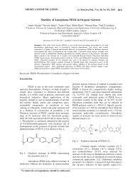Pdf Stability Of Amorphous Peek In Organic Solvents