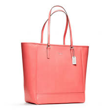 Lyst - Coach Northsouth City Tote in Saffiano Leather in Pink