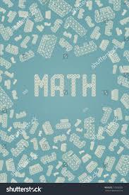 Maths Cover Design Math Schoolbook Cover Concept Sides Ratio Stock Vector