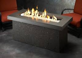 outdoor fire table. Outdoor Fire Pit - GreatRoom Linear Key Largo Table Midnight Mist Top