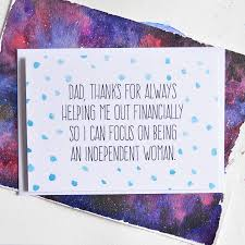 Funny Dad Quote Card Polka Dot