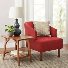 accent chair reed mid century modern contemporary living room accent tomato red