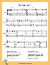 sheet music silent night silent night piano lesson on videos lyrics free sheet music