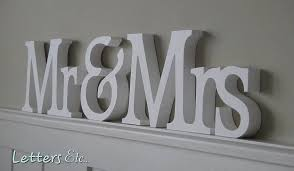 mr and mrs wooden letters levelings mr mrs signs