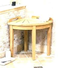 teak corner shower stool teak corner shower stool mini teak corner shower bench with shelf