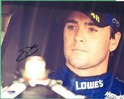 Lowes Psa Jimmie Johnson Autographed 8x10 Nascar Photo 48 Lowes Racing Team