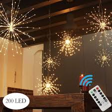 Battery Operated Hanging String Lights 200led Hanging Lights Battery Operated Starburst Lights