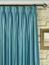 Extra Wide Swan Gray and Blue Solid Double Pinch Pleat Curtains 100 - 120  Inch Heading Extra Wide Swan Gray and Blue Solid Double Pinch Pleat Curtains  100 ...