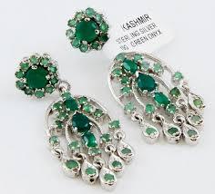 hamsa earrings green onyx sterling silver 925 emerald