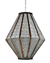 boho chic lamps lighting artisan hanging pierced pendant lamp lights boho chic light