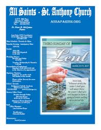 all saints st anthony parish bulletin 19 2017