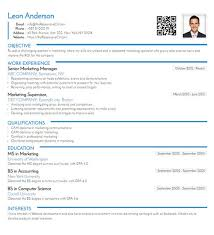 Create A Cv Free Online Cv Builder With Free Mobile Resume And Qr Code