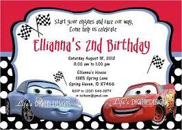 Free Printable Disney Cars Birthday Party Invitations Cars Birthday