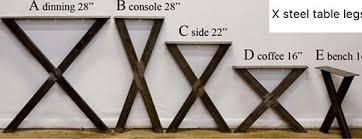 Steel table legs Bench Metal Table Legs Jmf Custom Wood Features Metal Table Legs Price List Jmf Custom Wood Features Barndoors