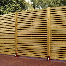 Grange Contemporary Slatted Fence Panel (W)1.79 M (H)1.79M, Pack of 3