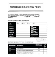 Club Membership Form Template Membership Application Template Sample Church Membership Form