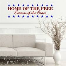 a beautifully designed vinyl wall decal for independence day july 4th or any patriotic on patriotic vinyl wall art with 17 best military family wall quote decals home decor images on