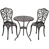 Sale Patio Sense Faustina Antique Bronze <b>3 Piece Bistro</b> Set - Chair ...