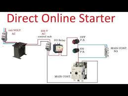 direct online starter dol starter control diagram working and direct online starter