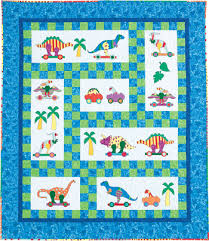 Dinosaur quilt pattern by The Country Quilter | Baby Quilts ... & dinosaur quilt patterns | Appliqued dinosaurs play on this colorful toddler  quilt. Adamdwight.com