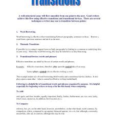 Example In Essays Transition Sentence Examples In Essays Fieldstation Co With Regard