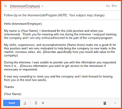 Sample Follow Up Email After Interview Email Sample Png