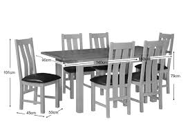 Oak Chairs For Kitchen Table Two Tone Grey Painted Oak Extending Dining Table Chairs