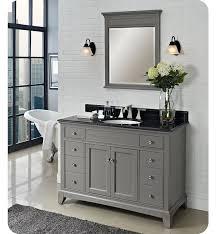 bathroom vanity without sink top. morden gray bathroom vanity, elegant mirror with frame. black granite top cupc undermount sink. vanity without sink r