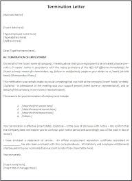 Company Termination Letter Impressive Sample Wrongful Termination Letter To Employer Thewhyfactorco