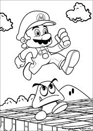 Mario Color Pages Kart Odyssey Coloring Cappy Interactive