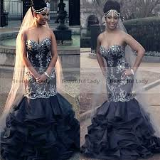 new 2017 black wedding gowns sweetheart off the shoulder lace
