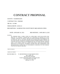 Contract Bid Proposal Contract Proposal Template Remodeling Proposal Template Free