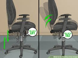 gaming chair uk pc world best of 3 ways to adjust fice chair height wikihow image