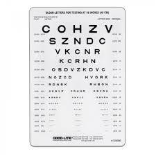 Near Eye Chart Sloan Letter Near Vision Card